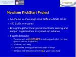 newham kickstart project