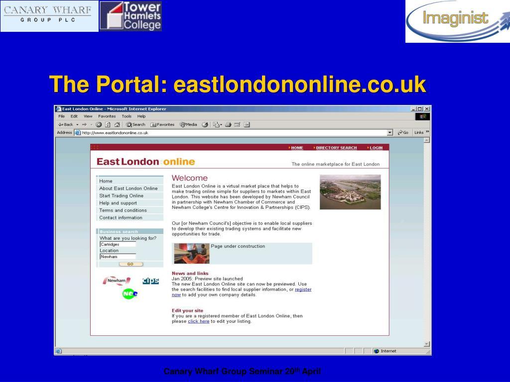 The Portal: eastlondononline.co.uk