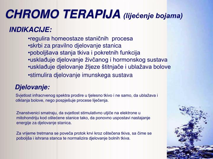 CHROMO TERAPIJA