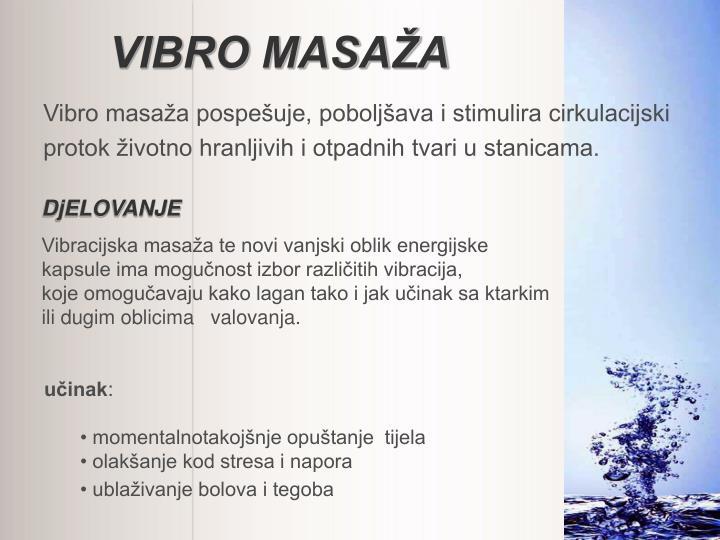 VIBRO MASAŽA