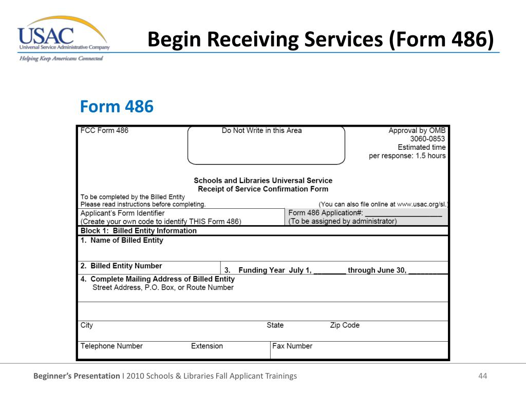 Form 486