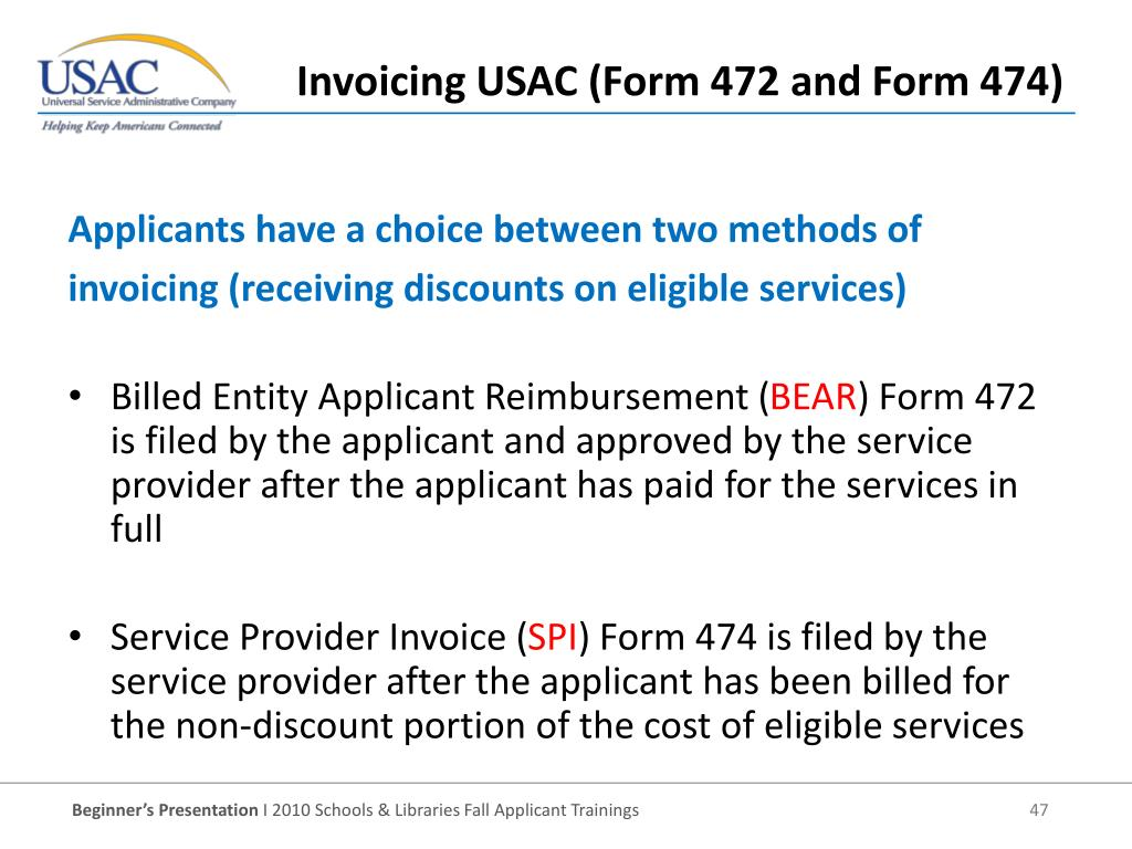 Billed Entity Applicant Reimbursement (
