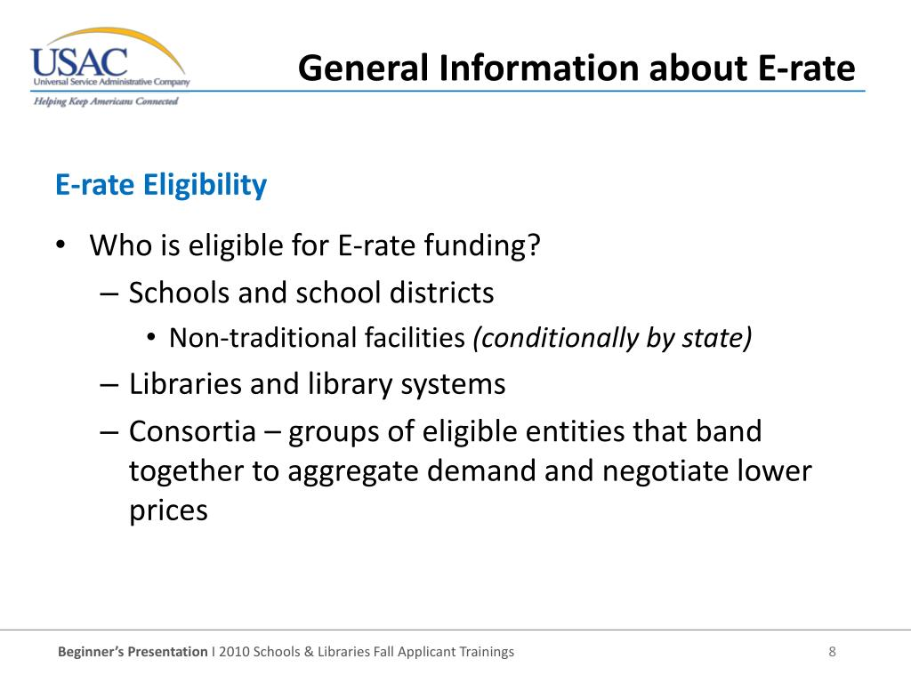E-rate Eligibility