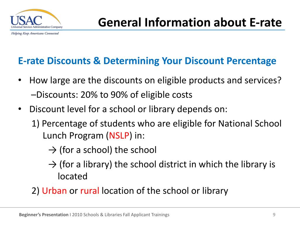 E-rate Discounts & Determining Your Discount Percentage