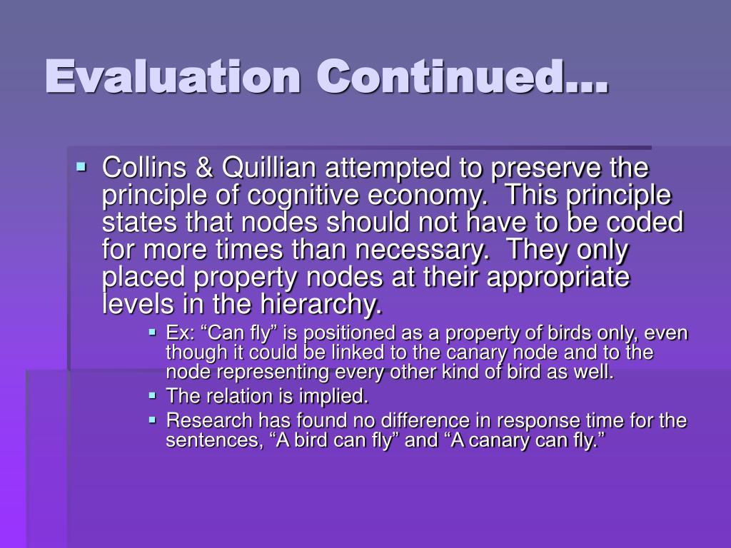 Evaluation Continued…