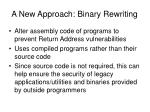 a new approach binary rewriting