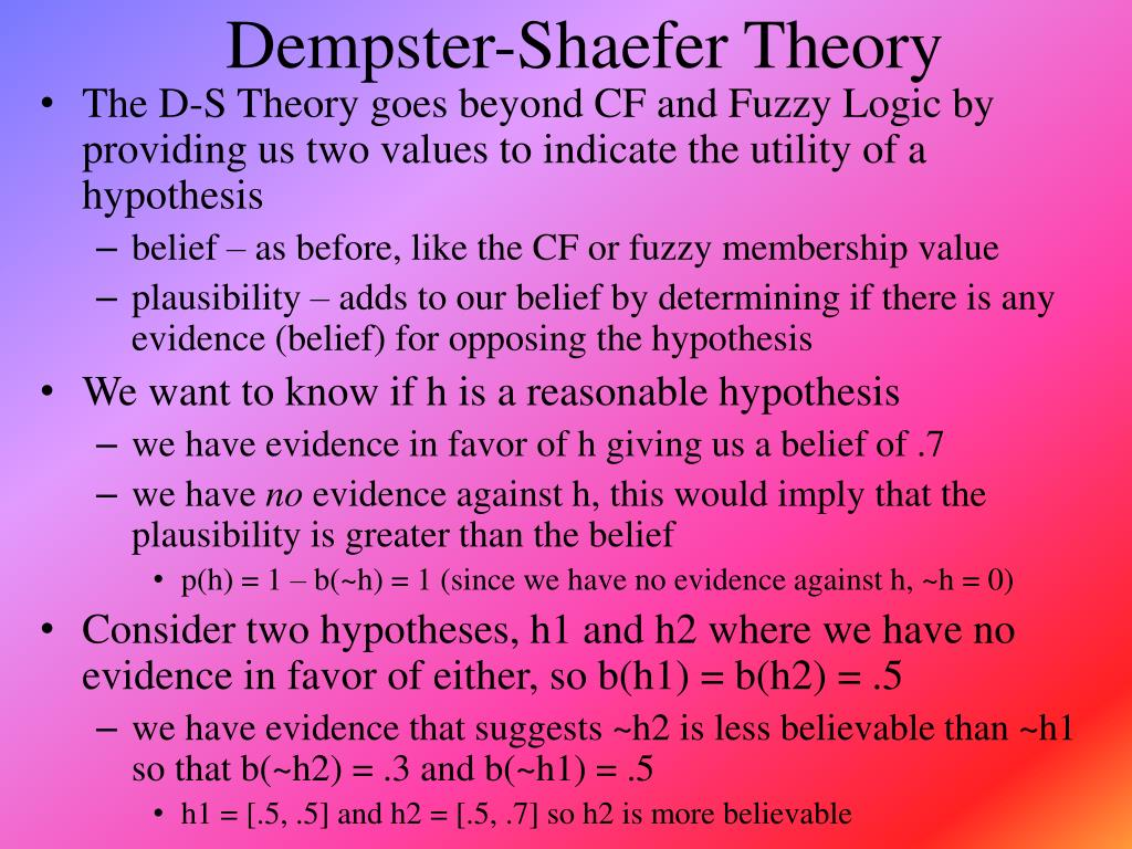 Dempster-Shaefer Theory