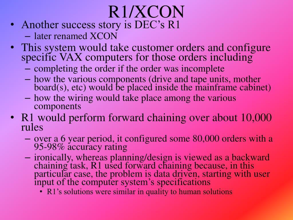R1/XCON