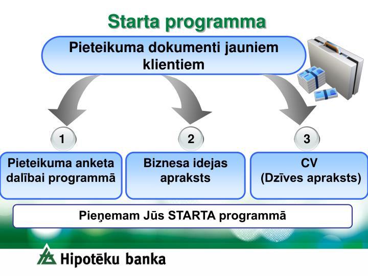 Starta programma