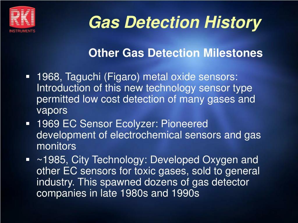 Other Gas Detection Milestones