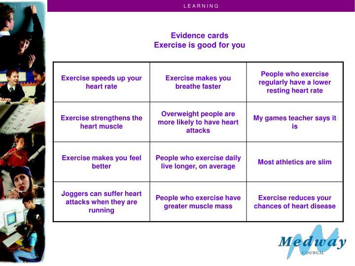 Evidence cards