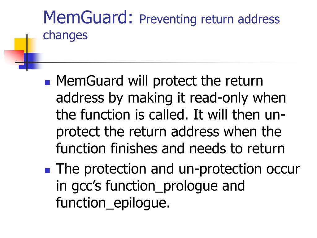 MemGuard: