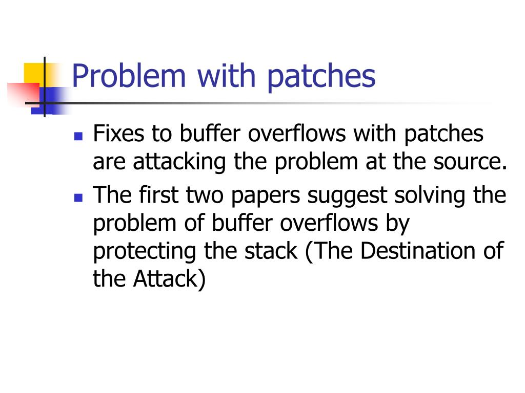Problem with patches