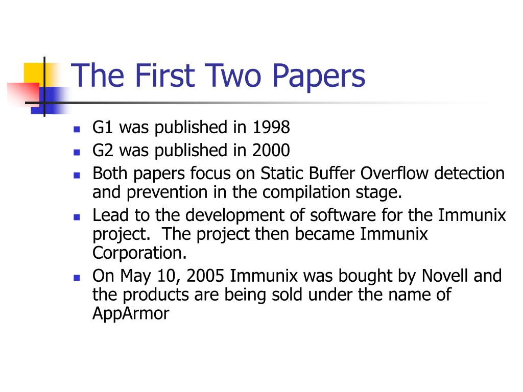 The First Two Papers