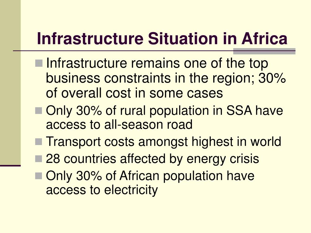 Infrastructure Situation in Africa