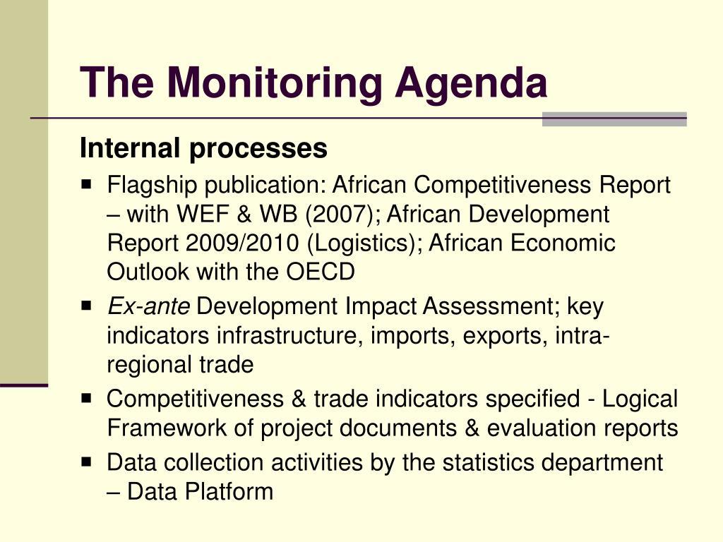 The Monitoring Agenda