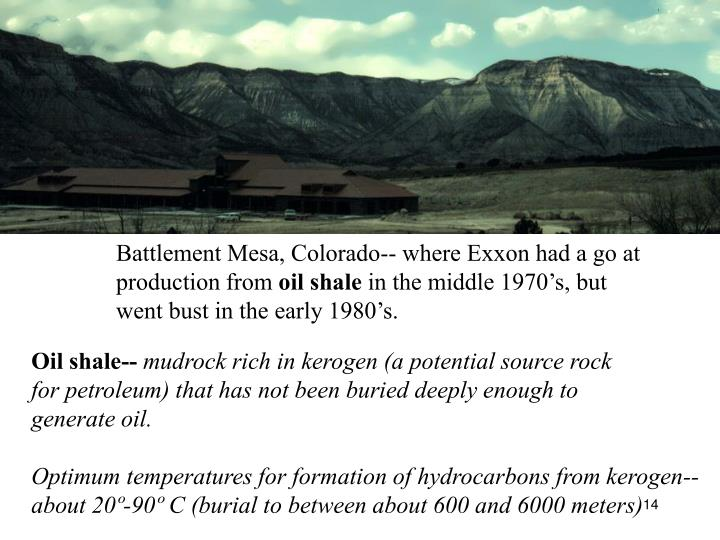 Battlement Mesa, Colorado-- where Exxon had a go at