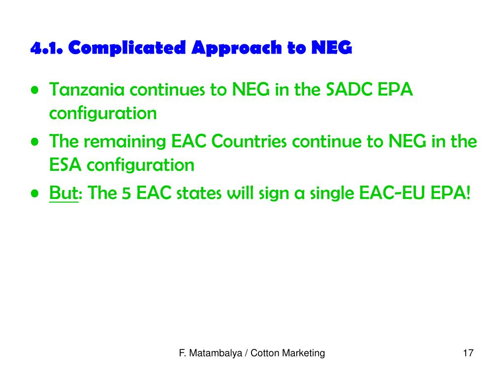 4.1. Complicated Approach to NEG