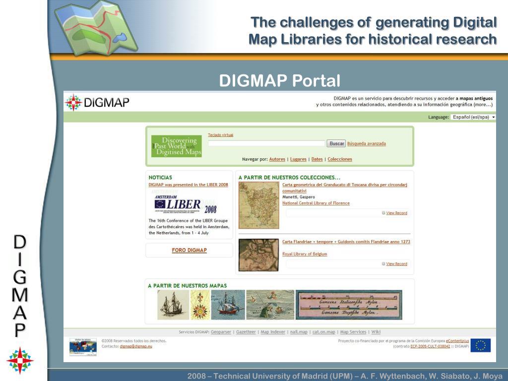DIGMAP Portal