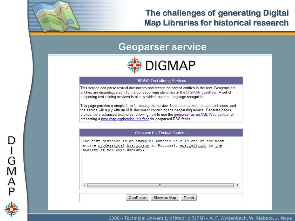 Geoparser service