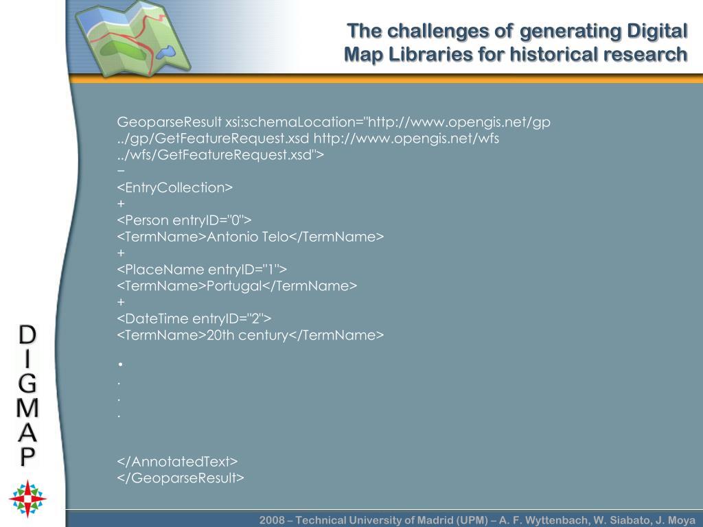 """GeoparseResult xsi:schemaLocation=""""http://www.opengis.net/gp ../gp/GetFeatureRequest.xsd http://www.opengis.net/wfs ../wfs/GetFeatureRequest.xsd"""">"""