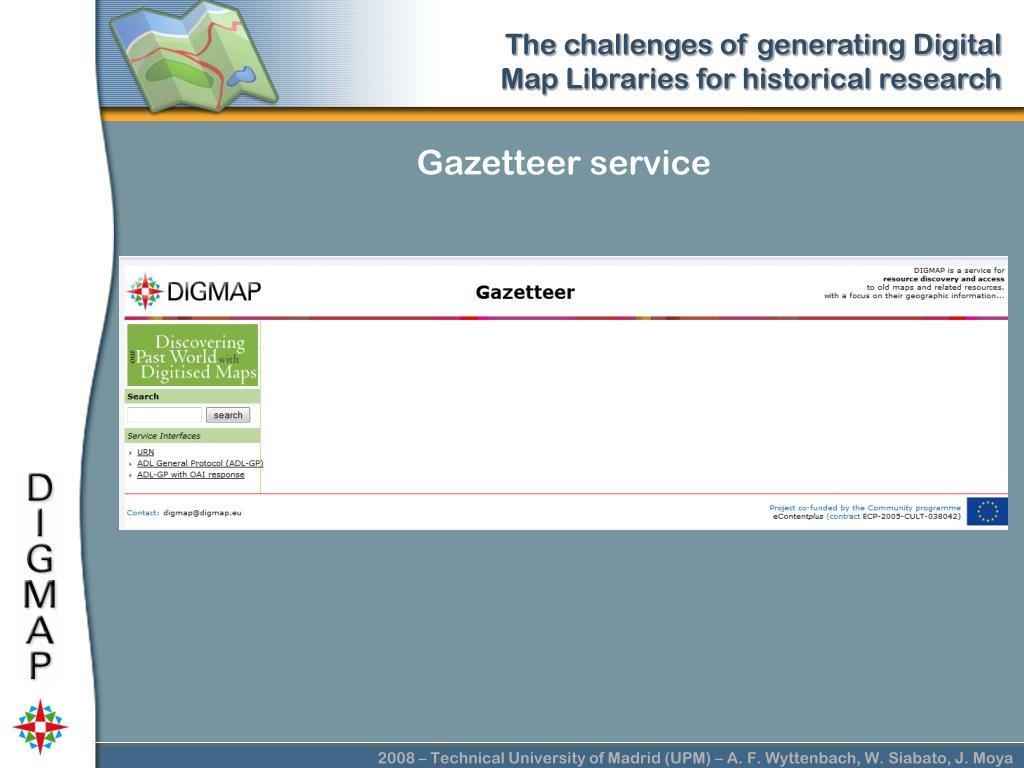 Gazetteer service