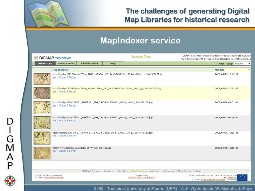MapIndexer service