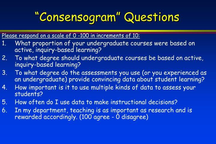 """""""Consensogram"""" Questions"""