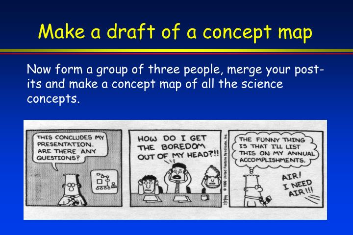 Make a draft of a concept map