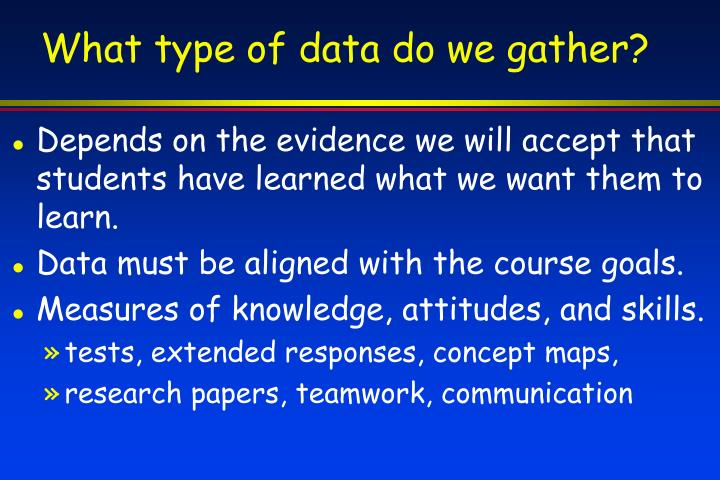 What type of data do we gather?