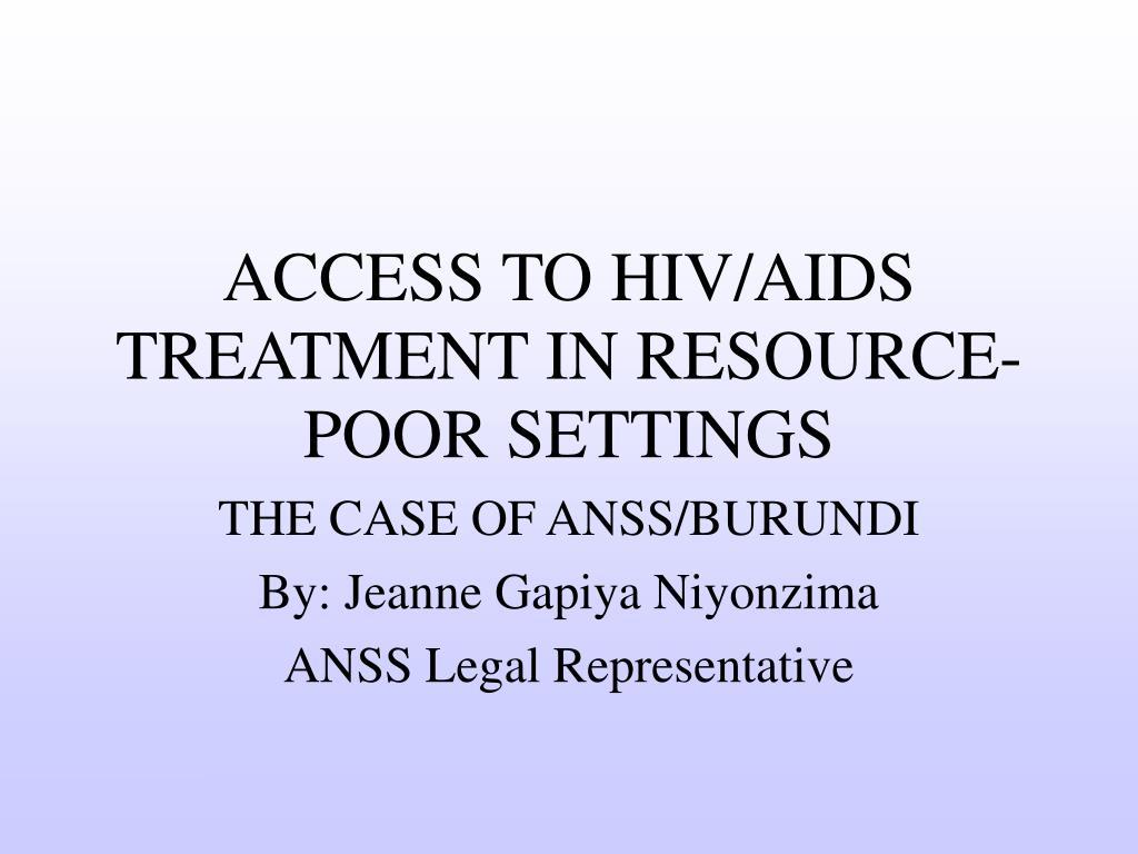 THE CASE OF ANSS/BURUNDI