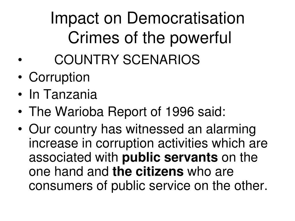 Impact on Democratisation