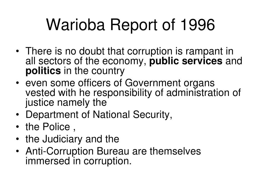 Warioba Report of 1996