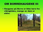 om borrehaugene iii
