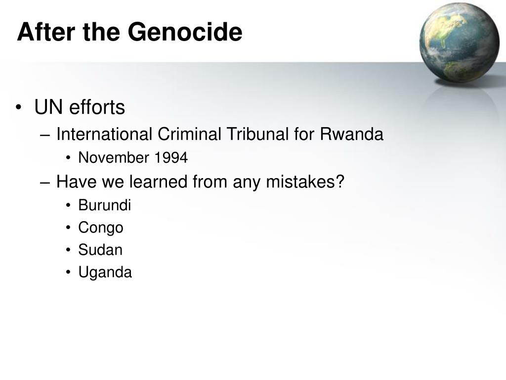 After the Genocide