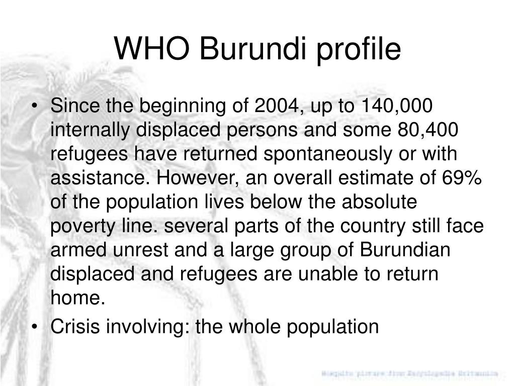 WHO Burundi profile