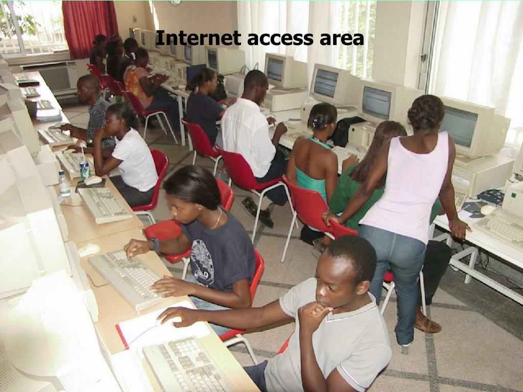 Internet access area