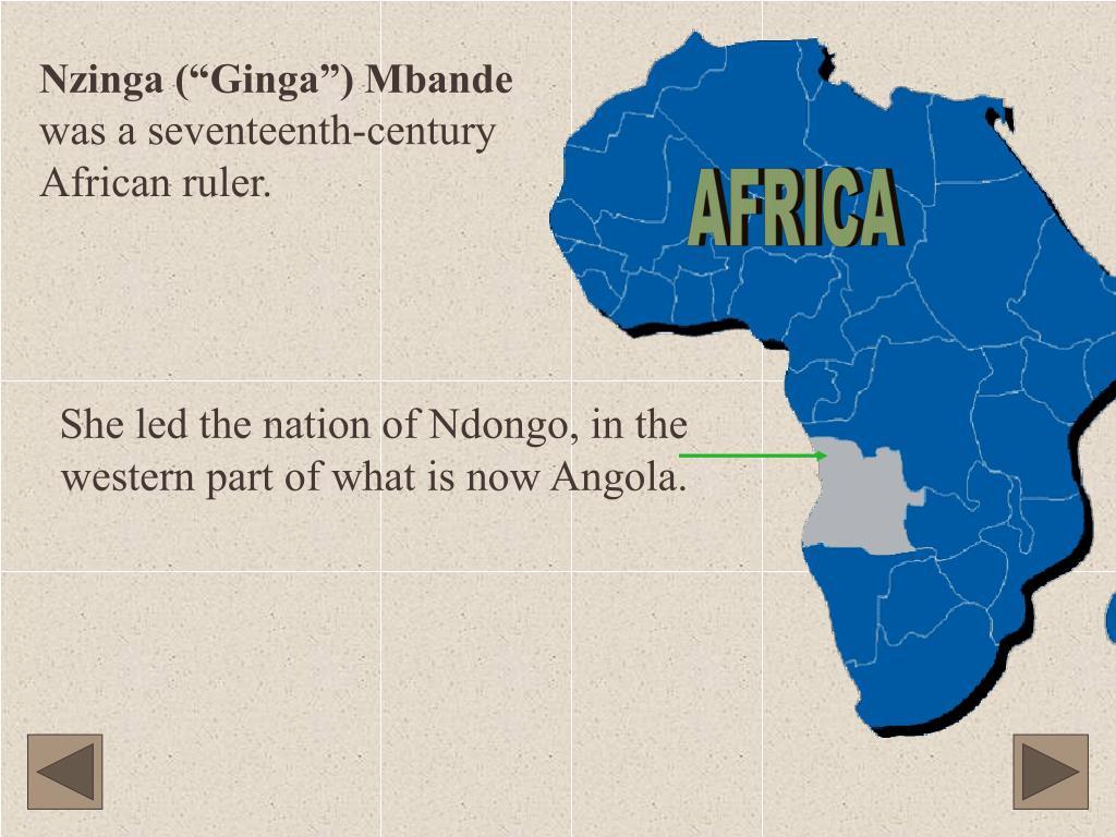 """Nzinga (""""Ginga"""") Mbande"""