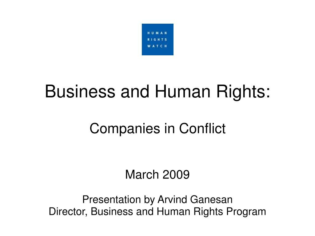 Business and Human Rights: