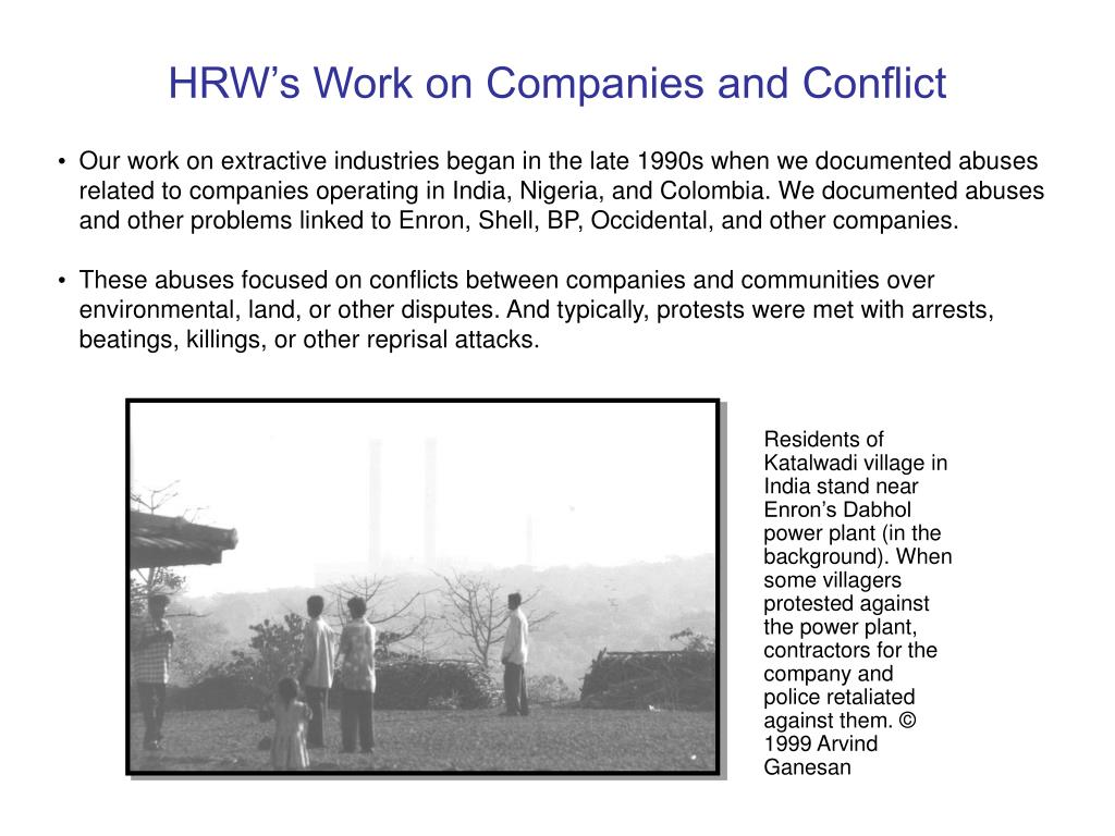 HRW's Work on Companies and Conflict
