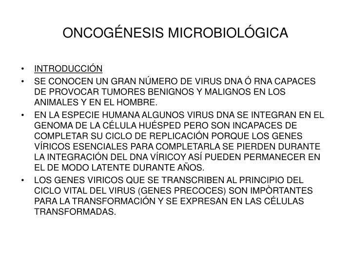 ONCOGÉNESIS MICROBIOLÓGICA
