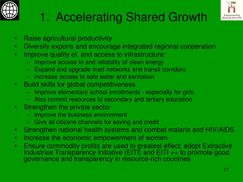 1.  Accelerating Shared Growth