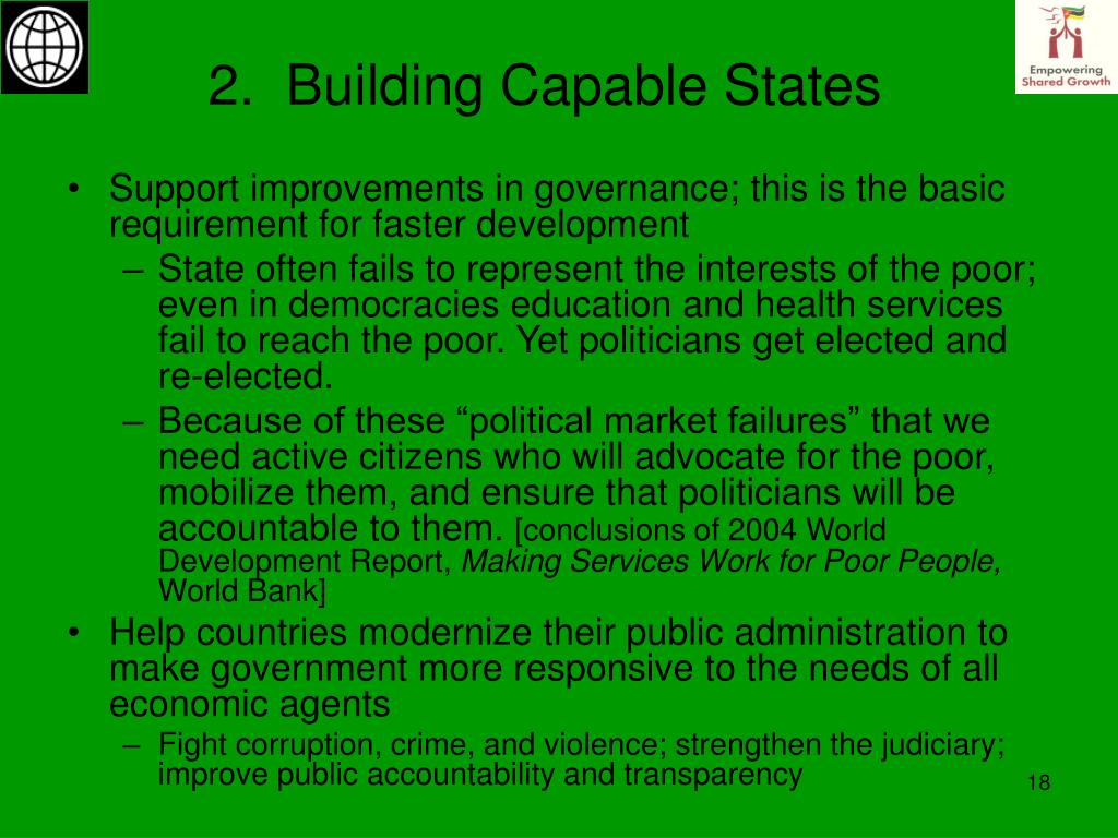 2.  Building Capable States