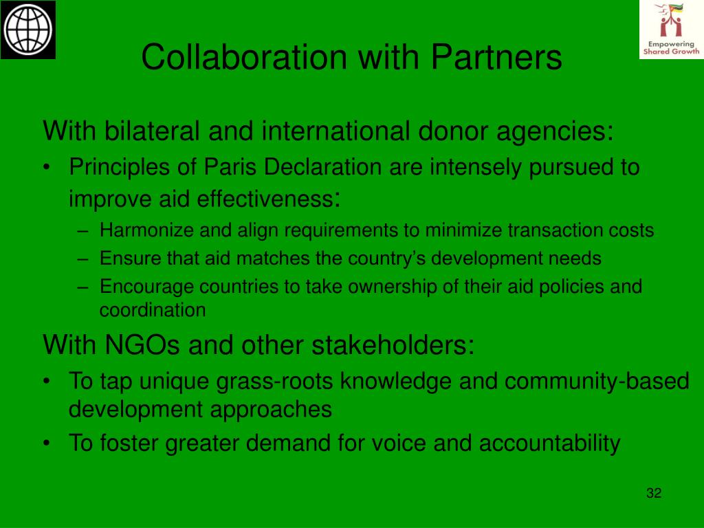 Collaboration with Partners