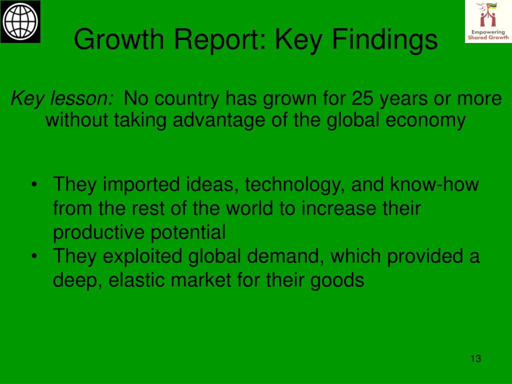 Growth Report: Key Findings