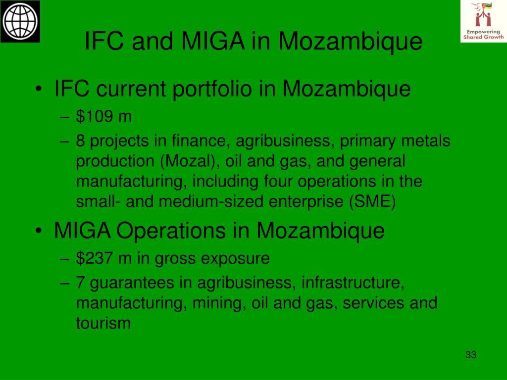 IFC and MIGA in Mozambique