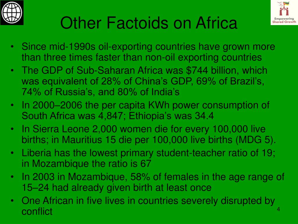 Other Factoids on Africa