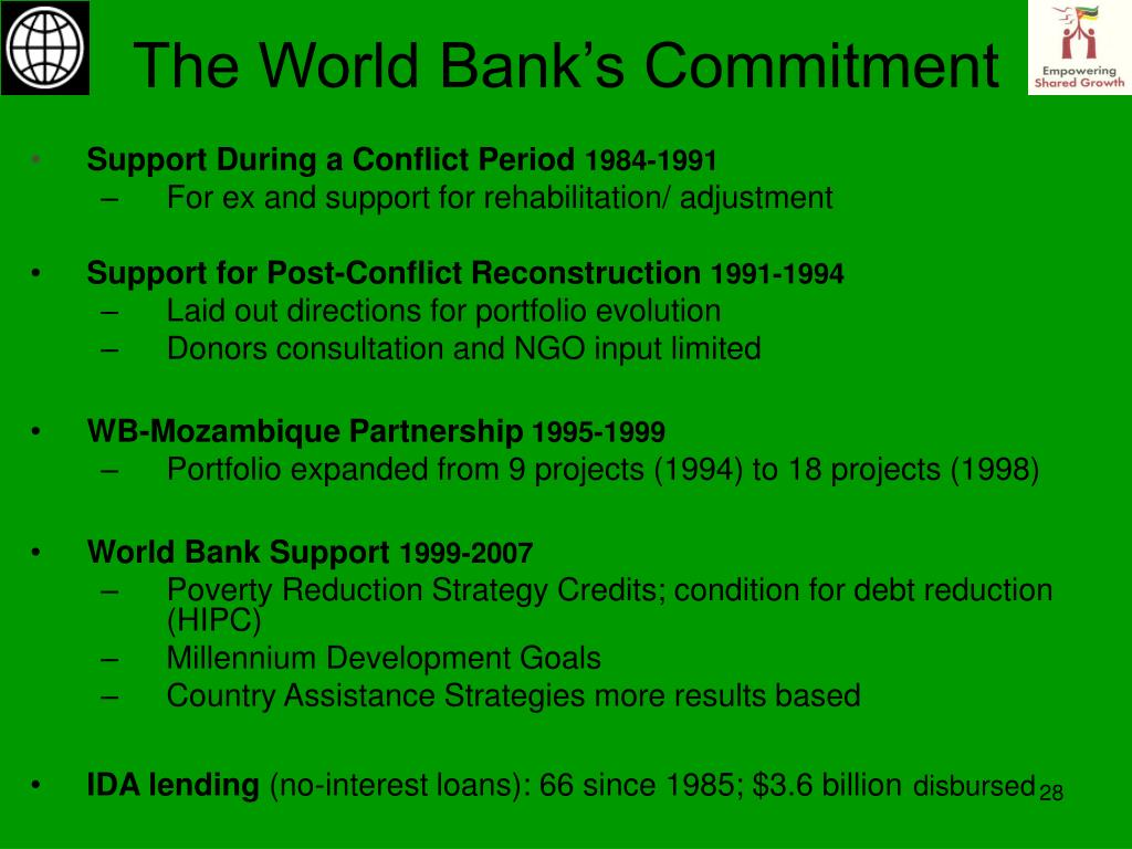 The World Bank's Commitment