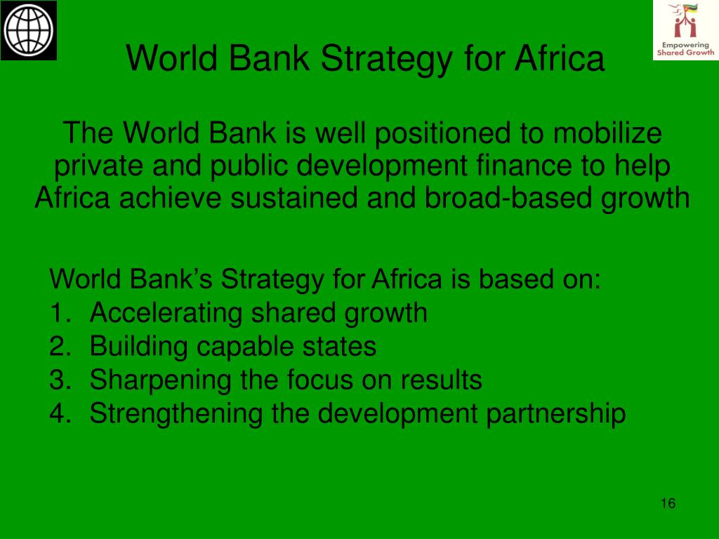 World Bank Strategy for Africa