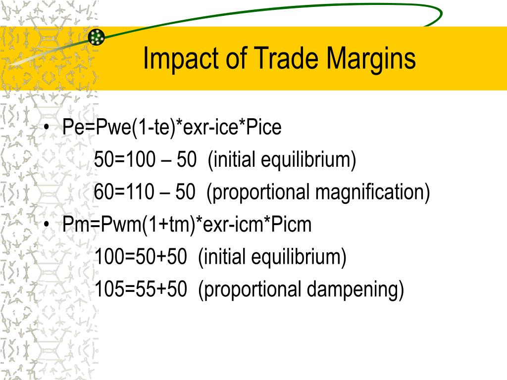 Impact of Trade Margins